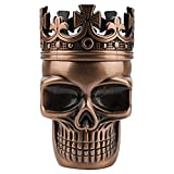 Golden Bell Upgraded Full Metal Spice Herb Skull Grinder - Red Bronze by Golden Bell