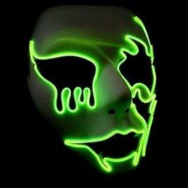 Circle Circle El Wire Glowing LED Halloween Masks (Fluorescent Green)