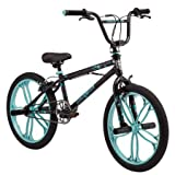 Mongoose 20' Craze Girls' Freestyle Bike, Black w/Baby Blue