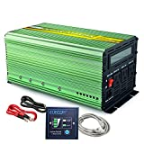 EDECOA 1000W Pure Sine Wave Power Inverter DC 12V to 110V AC with LCD Display and Remote Controller for Car