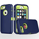 iPhone 5S Case,iPhone SE Case,Fogeek Heavy Duty PC and TPU Combo Protective Body Armor Case Compatible for iPhone 5S,iPhone SE and iPhone 5 with Fingerprint Function (Dark Blue/Green)