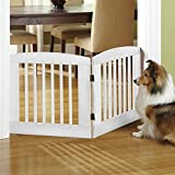 Orvis Panel Zig-zag Dog Gates / 36' h Two-Panel Gate: Covers Up to A 3' Span, Weighs 13 1/2 Lbs, White