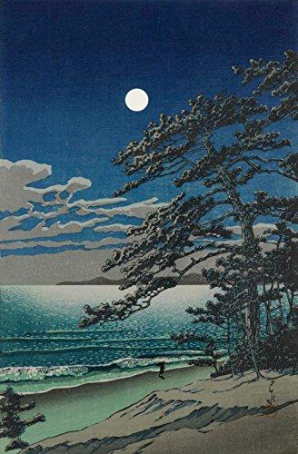 """Japanese Art Print -Spring Moon at Ninomiya Beach by Kawase Hasui (12""""x19"""")"""