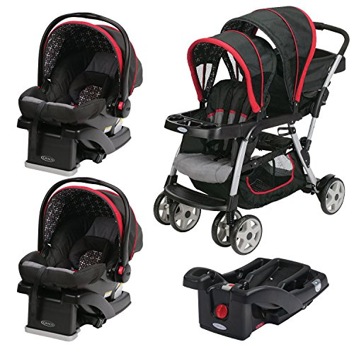 Graco Ready2grow Double Stroller With Two Snugride Car Seats Extra