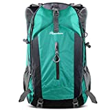 OutdoorMaster Hiking Backpack 50L - Hiking & Travel Carry-On Backpack w/Waterproof Rain Cover - for Hiking, Traveling & Camping - Light Green