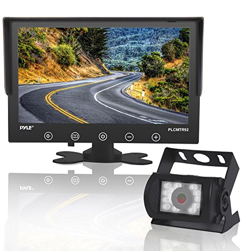 Upgraded 2017 Backup Rear View Car Truck Camera & Monitor System, Waterproof, 9' LCD Display Monitor, Night Vision, Anti Glare, For Truck, RV Trailer, Vans Reverse Parking, DC 12-24V - PLCMTR92