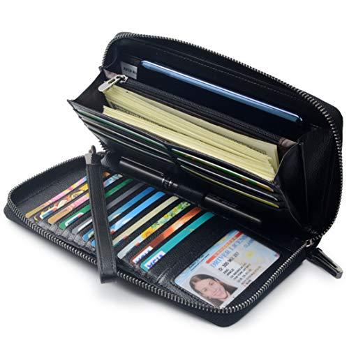 Women RFID Blocking Wallet Leather Zip Around Phone Clutch Large Travel Purse Wristlet