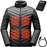 HAVASU Windproof Heated Jacket for Women- Warming Coat Including Battery Black