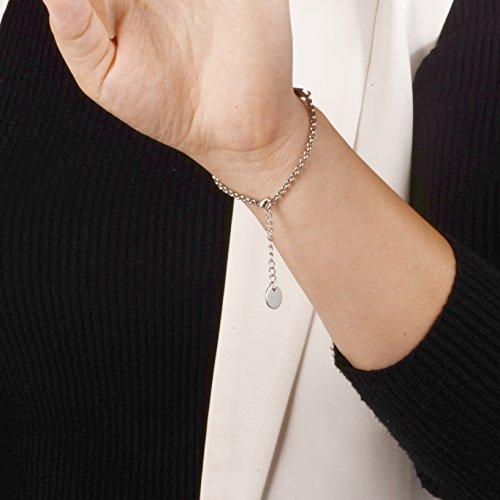 linnalove-Pre-Engraved Simple Rolo Chain Medical Alert Bracelet for Women & Girl-NO BP/IV/Needles This ARM deal 50% off 51HSDRNDnbL