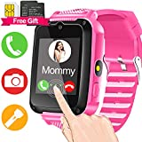 Kids Smart Watch Phone with Free SIM Card for 3-12 Ages Girls Boys Toddlers with 1.44'' HD Touch Screen 2 Way Call Camera SOS Clock Game Flashlight Wristband Cellphone Watch Electronic Learning Toys