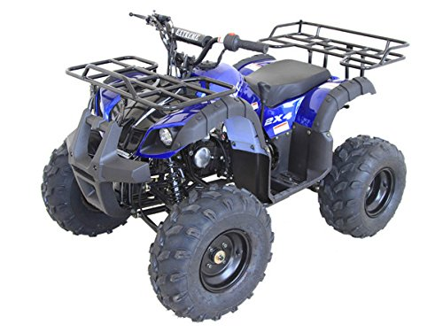DONGFANG 125cc ATV Manual Four Wheelers 4 Stroke Engine 9' Tires Quads for Kids Blue