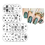 Winstonia 20 pc Nail Art Stamp Stamping Image Plate Set, Manicure Pedicure - First Generation