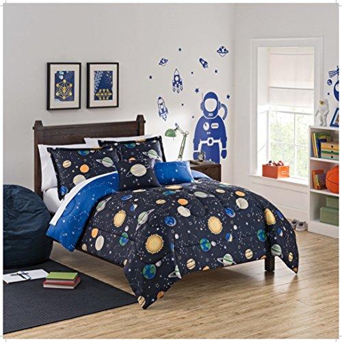 WAVERLY Kids Espacio Adventure Reversible colección de Ropa de Cama, Individual, Multicolor