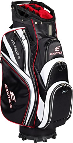 Tour Edge Male Exotics Xtreme4 Cart Bag (Men's, Exotics Extreme 4 Cart Bag Black/White
