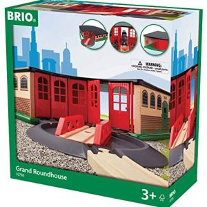 BRIO World – 33736 Grand Roundhouse | 2 Piece Toy Train Accessory for Kids Age 3 and Up 51HV8dj3 2BTL