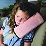 SSAWcasa Travel Pillow Kids Car,Seat Belt/Seatbelt Pillow for Sleep,Toddler Seat Belt Neck Support Pad,Vehicle Children Baby Safety Strap Plush Soft Cushion Headrest Shoulder Cover Pad (Pink)
