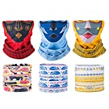 Product review of Sixteen18 | 6 Pack, Women's Multifunctional Seamless Face Tube Mask Headband Bandana Scarf for Outdoors, Yoga, Cycling, Skiing, Paintball | Protect Skin, Face, and Neck from Sun, Wind, Dirt, Snow