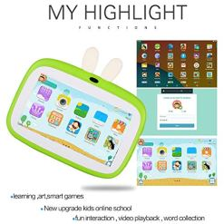 7.0 Inch Kids Children Tablet, Android 6.0 1+8G Wifi Bluetooth Kids Edition Tablet,Eye Protection Screen Dual Cameras 1024 * 600 High Resolution Kids Software Pre-Installed with Kids-Proof Case(UK)