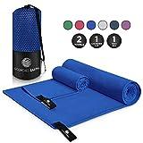 ScorchedEarth Microfiber Travel & Sports Towel Set (Royal Blue) - Medium Set (20x40' & 12x24')