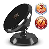 Magnetic Phone Car Mount - New 2019 Design - Universal Dash 360˚ Rotation Strong Magnet Cell Phone Holder for Smartphones Compatible with Samsung S9 / S8 / S7 / Note 9 iPhone X/Plus, Black