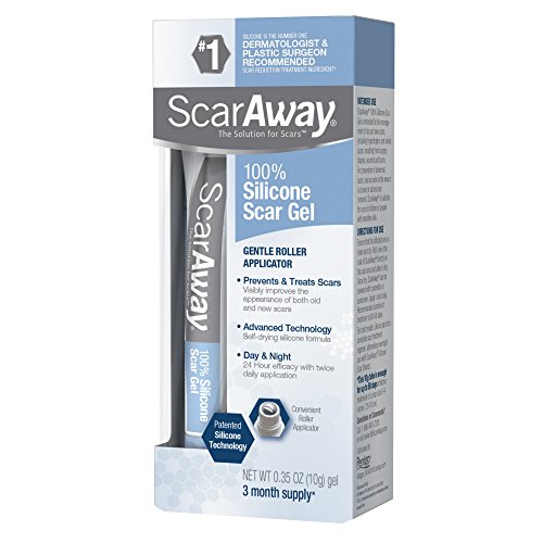ScarAway Scar Treatment Gel, Clinically Supported to Flatten and Soften Raised Scars, 10 Gram