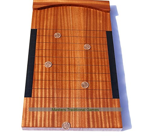 Masters Traditional Games Hand-made Mahogany Tournament Shove Ha'Penny Board