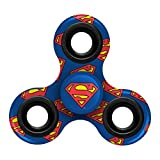 "FOCO Superman Diztracto Spinnerz Three Way-Printed Spinner Toy, Blue, 3"" x 2.75"""