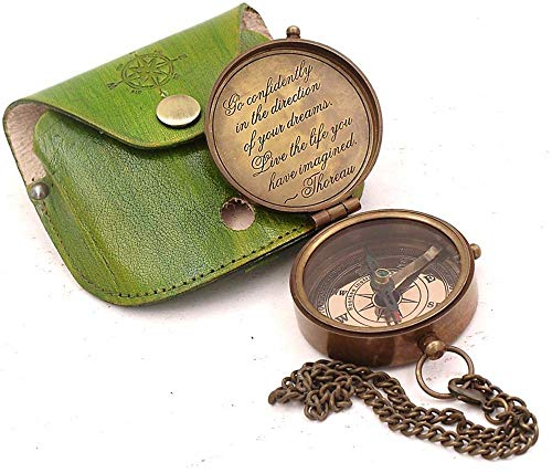 Roorkee Instruments India Engraved Compass Directional Magnetic Pocket Personalized Gift for Camping, Hiking and Touring