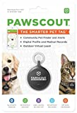 Pawscout Smarter Pet Tag: Dog & Cat Community Pet Tracker (Bluetooth, not GPS), Medical Profiles, Virtual Pet Leash, Walk Tracker, Pet Points of Interest, No Monthly Fees