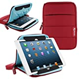 rooCASE 7 Inch Tablet Sleeve Case, Water Resistant Drop Protection Bag Case with Stand (Red) for iPad Mini, Fire HD 7 HD 6 / HDX 7, Galaxy Tab 7.0 8.0 / Tab S 8.4 S2 8.0, Nexus 7 2013