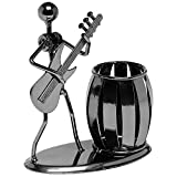 Gun Metal Gray Pencil & Pen Holder Display - Guitar Theme Desktop Supply Organizer