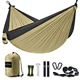 Unimpeded Camping Hammock Multi-Functional Single&Double Portable Hammock with Heavy Duty Straps&Carabiners - Lightweight Nylon Parachute Hammock with Many Accessories for Travel, Backpacking,Camp