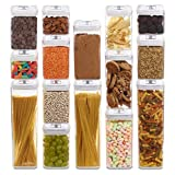 1790 Dry Food Storage Containers - Air Tight Containers (15 Pack)