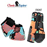 Product review for M- CORAL TROPICS CLASSIC EQUINE FRONT SPORTS + NO TURN BELL BOOTS LEGACY HORSE