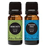 Immunity + Fighting Five Value Pack 100% Pure Therapeutic Grade Essential Oil by Edens Garden- 2 Set 10 ml