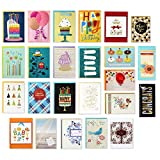Hallmark Handmade All Occasion Boxed Greeting Card Assortment, Modern Floral (Pack of 24)-Birthday Cards, Baby Shower Cards, Wedding Cards, Sympathy Cards, Thinking of You Cards, Thank You Cards