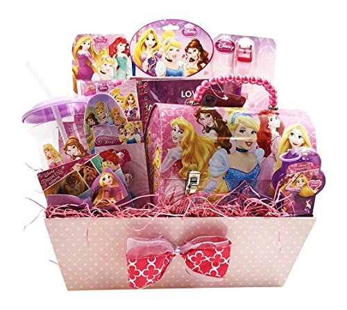 Disney Princess Easter Gift Basket :: 10 Jewelry & Cosmetics Items for Girls