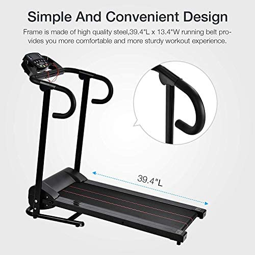 Murtisol 1100W Folding Treadmill Good for Home/Apartment Fitness Compact Electric Running Exercise Machine with Safe Handlebar 5