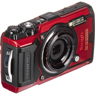 Olympus-Tough-TG-6-Digital-Camera-Red-V104210RU000-with-Essential-Accessory-Bundle--Includes-SanDisk-Ultra-64GB-SDXC-Memory-Card-2X-Seller-Replacement-Batteries-with-Charger-Much-More