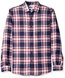 An Amazon brand - This weekend-perfect casual button-front shirt in a plaid flannel fabric features a soft feel and maximum comfort