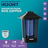 Hoont Powerful Electric Indoor Outdoor Bug Zapper and Fly Zapper Catcher Killer Trap - Protects Up to 1.5 Acre / Bug and Fly Killer, Insect Killer, Mosquito Killer - For Residential and Commercial Use