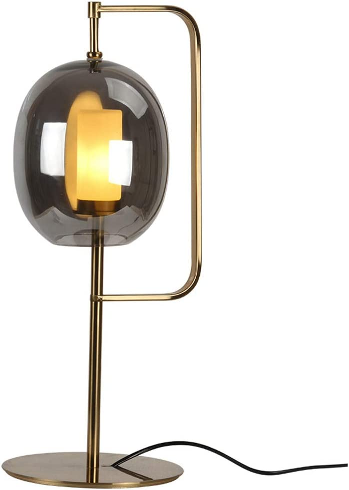 Alvyu Table Lamp Modern Iron Home Decoration Bedside Light With Glass Lampshade Reading Desk Lamp Suitable For Dormitory Study Hotel Bedroom Gold Amazon Co Uk Kitchen Home