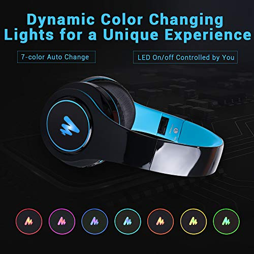 Maono AU-D422L Over-Ear Bluetooth Wireless Headphones with Built in Mic (Blue and Black) 6