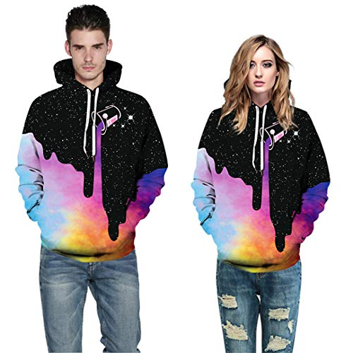 NEWCOSPLAY Unisex Athletic Hooded Sweatshirts 3D Digital Printed Hoodies Colorful Galaxy Pattern Big Pocket Sweaters 17 Fashion Online Shop gifts for her gifts for him womens full figure