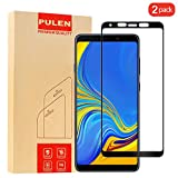 [2-Pack] PULEN for Samsung Galaxy A9 2018 Screen Protector,HD Anti-Scratch Bubble Free Ultra Clear 9H Hardness Tempered Glass Film for Samsung Galaxy A9 2018 (Black)