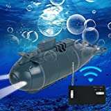 Mini Remote Control Submarine Boat, Vinmax Mini RC Water Boat Toy Plastic Race Boat Model Ship Electronic Waterproof Diving in Pools Lake Ponds Toy Gift (Blue)