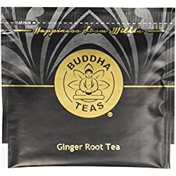 Organic Ginger Root Tea - Kosher, Caffeine-Free, GMO-Free - 18 Bleach-Free Tea Bags
