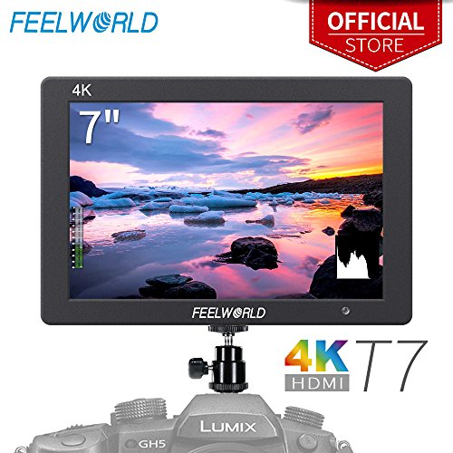 FEELWORLD T7 7 Inch IPS 4K HDMI Camera Field Monitor Video Assist Full HD 1920×1200 Solid Aluminum Housing DSLR Monitor with Peaking Focus False Colors