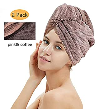 Specification: Material: microfiber fabric Sizes: 25*65 cm Color: Coffee&Pink Target Audience :unisex children or adult Weight:160g Design: secure button than regular towel Wash method: machine-washable  Package Include: 2 pack(coffee &pink) ...