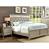 Product review for Furniture of America Maire 2 Piece Queen Bedroom Set in Silver
